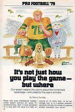 1979 Tv Guide Article~CHARLES CHAS ADDAMS CARTOON~NFL FOOTBALL PREDICTIONS