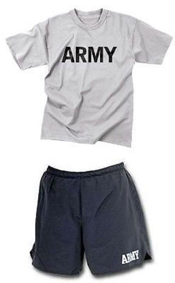 Us Army Pft Fisica Training Sport Abito Pantaloni Shirt Breve Tuta da Ginnastica