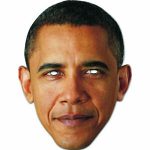 Fun For Stag/&Hen Parties Barack Obama Celebrity Card Mask