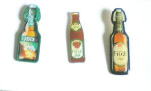 BOCHUM-MORITZ FIEGE BIER-KLASSIKER-3 PINS-3 FLASCHENMOTIVE-FIEGE BIER BOCHUM-BO4