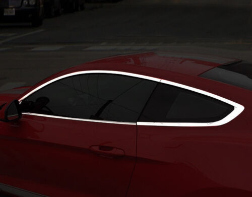 8x Accessories Bottom Window Sill Guard Cover Trim for Ford Mustang 2015-2017