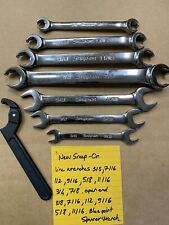 Snap On Flare Nut Wrench Set Sae Line Wrenches Spanner Wrench Open End Wrench