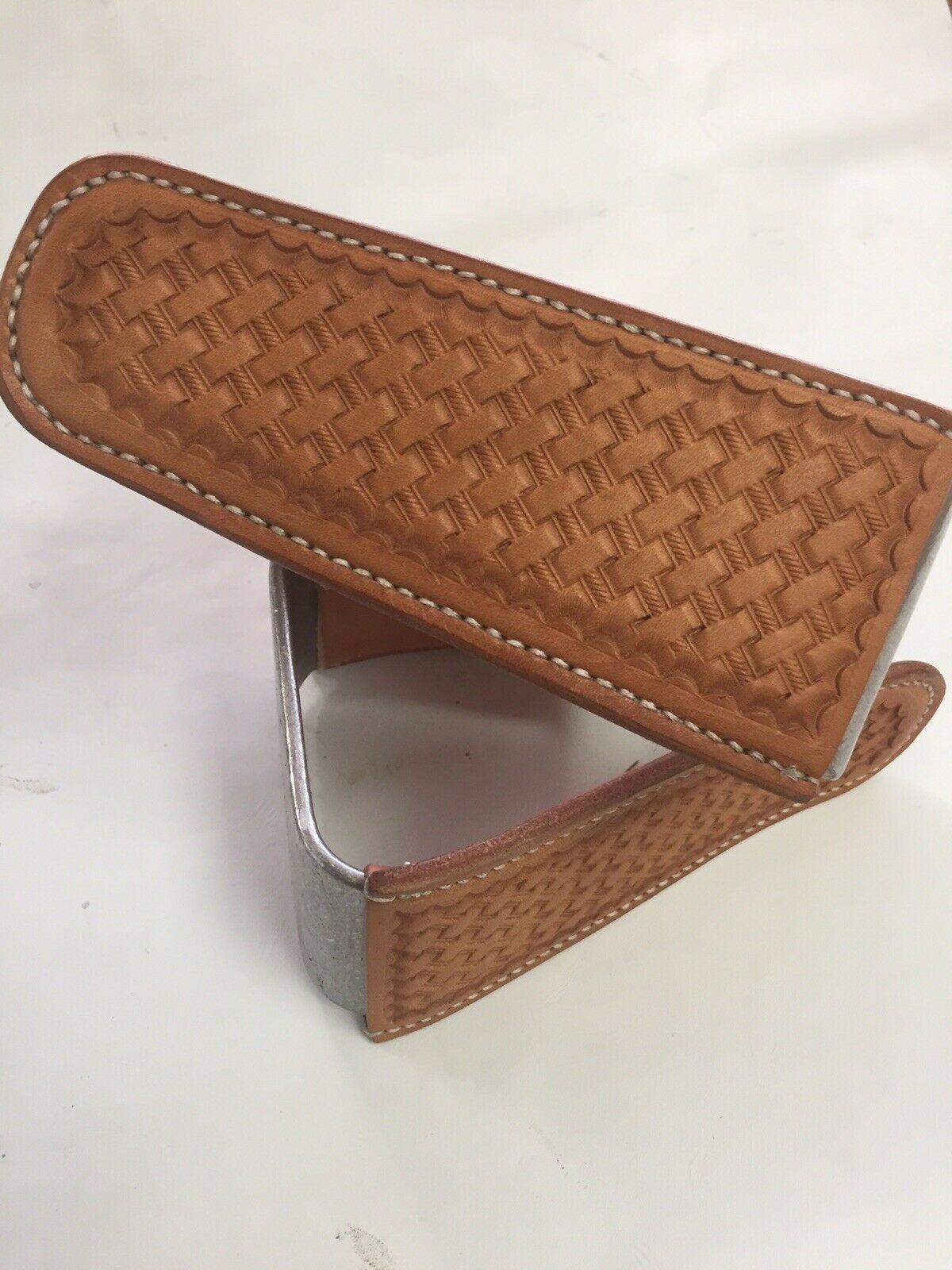 BRe nuovo Original Crooked Stirrups Roper stile With Basket Weave Leather
