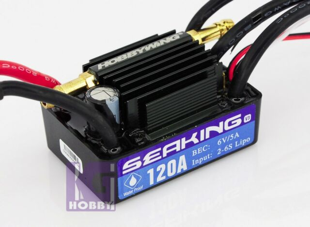 RC Boat Hobbywing SEAKING V3 brushless Motor ESC 120A 6s lipo Speed Controller
