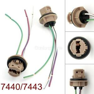 Prime 7443 Bulb Socket Brake Turn Signal Light Harness Wire Led Pig Tail Wiring Cloud Rectuggs Outletorg