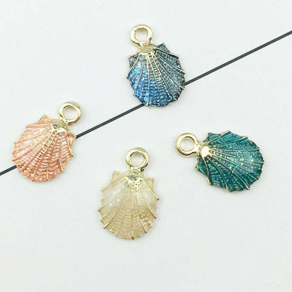13 Pcs//Set Mixed Starfish Conch Shell Metal Charms Pendant DIY Jewelry Making Fa