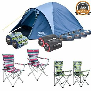 Trespass 4 Person Camping Festival Pack Free Next Day Delivery