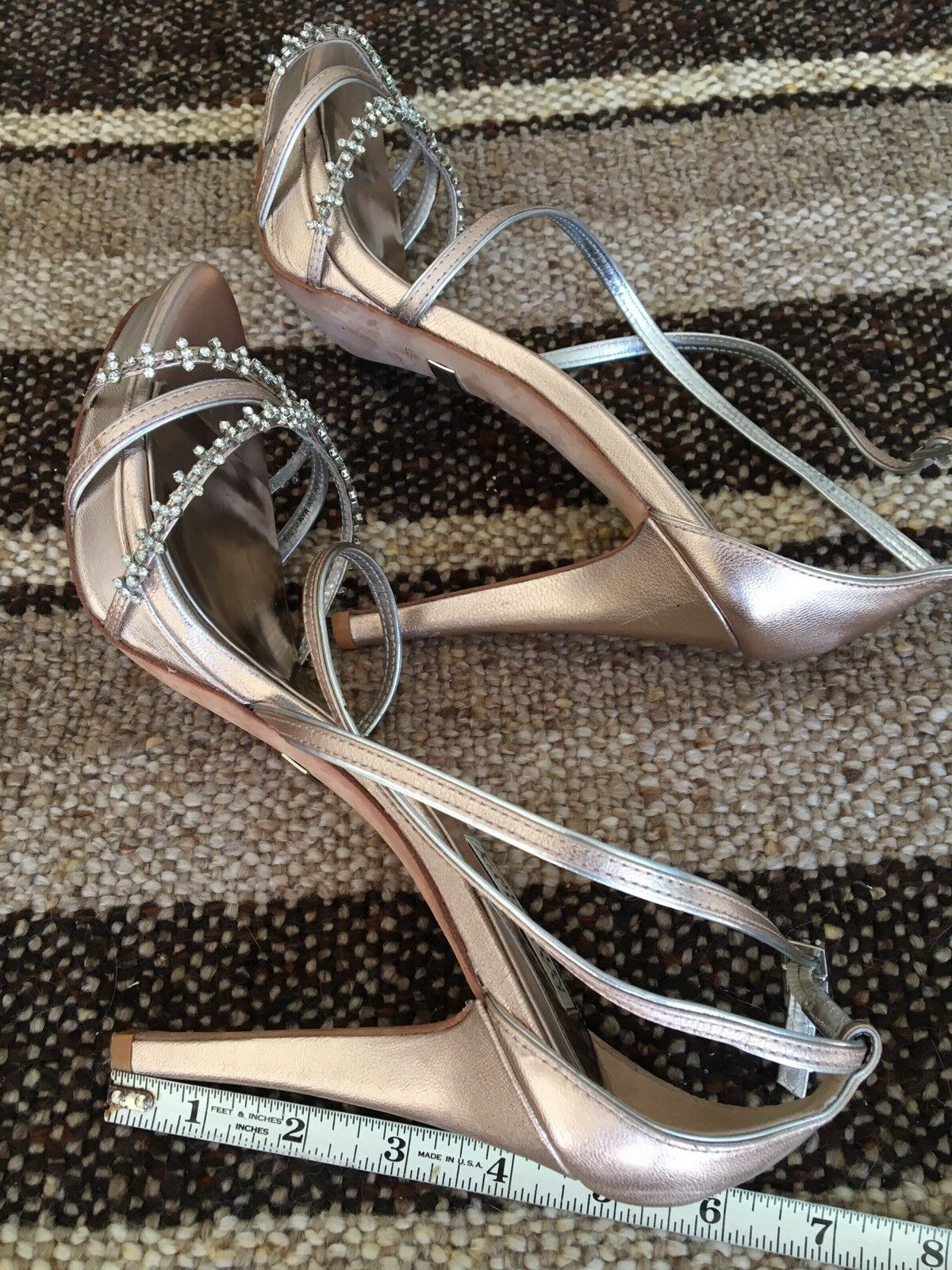 Badgley Silber Mischka Rosa Gold  Silber Badgley Embellished Strappy Heels be8b14
