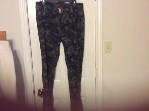 V I P Jeans Tamano 16 Nylon Spandex De Algodon Pantalones Jeans Camuflaje Elastizado Ebay