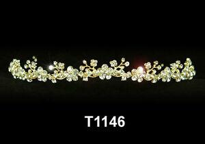 Details Zu Hochzeit Haarschmuck Gold Braut Accessoires Haarreifen Diadem Tiara T1146