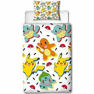 Biancheria Da Letto Bambini.Pokemon Memphis Set Copripiumino Singolo Reversibile Biancheria Da