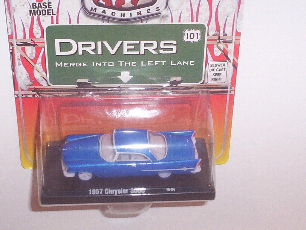 1957 CHRYSLER 300C CHASE bil W  blå TIRES 1 OF 500 M2 DRIVER 1  64 DIESAT
