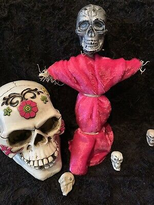 AUTHENTIC VOODOO DOLL-PINK/SILVER WITH PINS | eBay