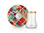 Dervish Amazon Tropic Tea Glass and Saucer