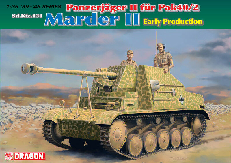 1 35 German Marder II Initial Production Panzerjager fur Pak40 2 - Dragon