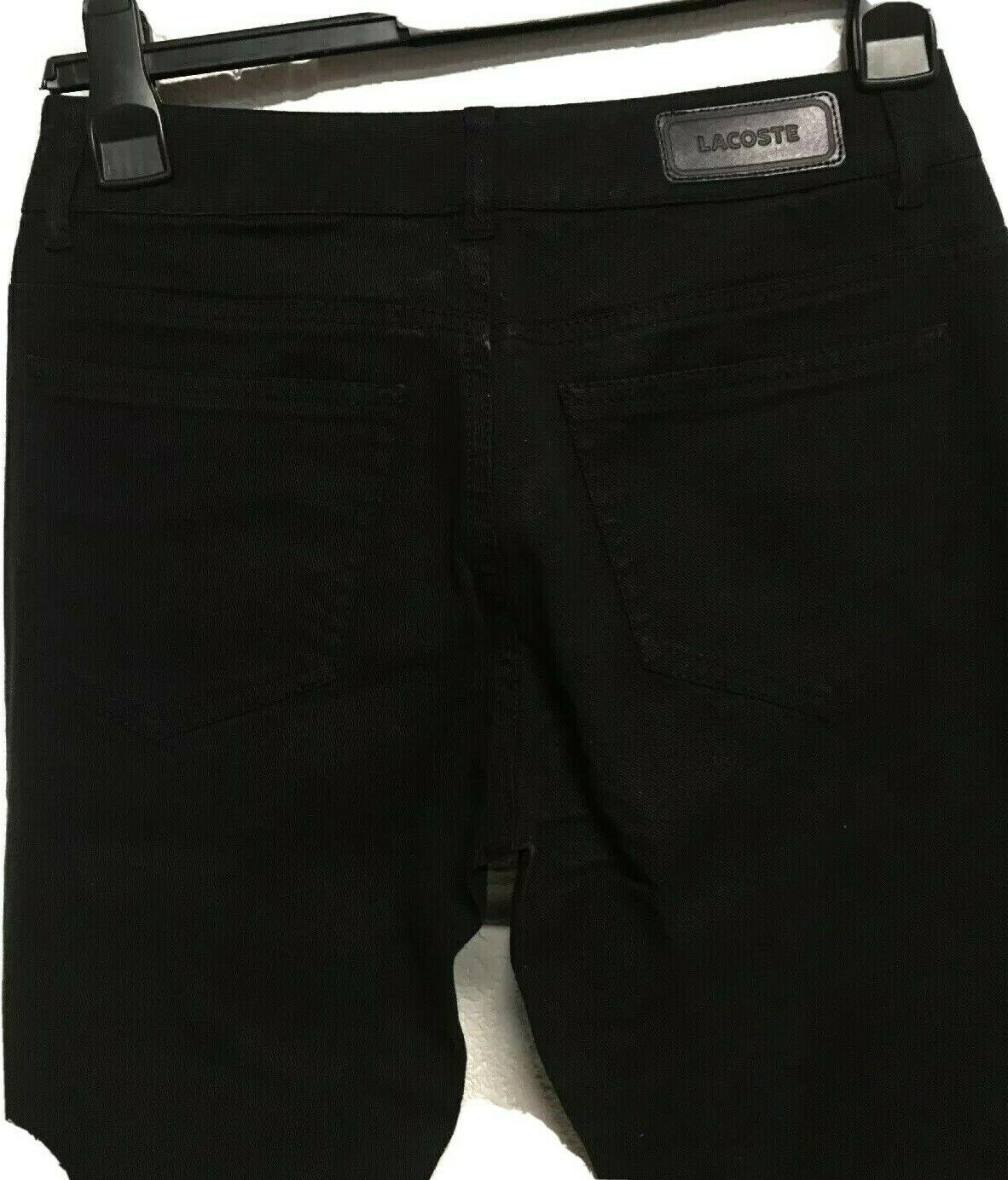 Mujer jeans negros Lacoste Talla 38/UK 10/28
