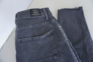 ZARA Herren Jeans unisex smart fit stretch Hose 30/28 W30 L28 used grau TOP