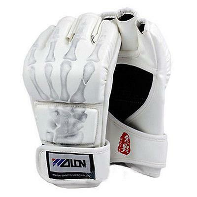New Grappling MMA UFC Gloves PU Punching Bag Boxing Gloves White #Y603