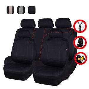 Universal Car Protectors Red Black Beige Seat Covers Set Airbag Safe Full Set UK