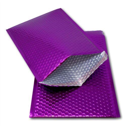 50 Purple 324mm x 230mm A4//C4 Shiny Metallic Bubble Padded Bag Mailing Envelopes
