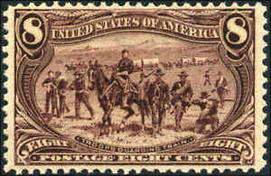 1898-United-States-Postage-Stamp-289-A104-8c-Mint-Hinged-Original-Gum-F-VF