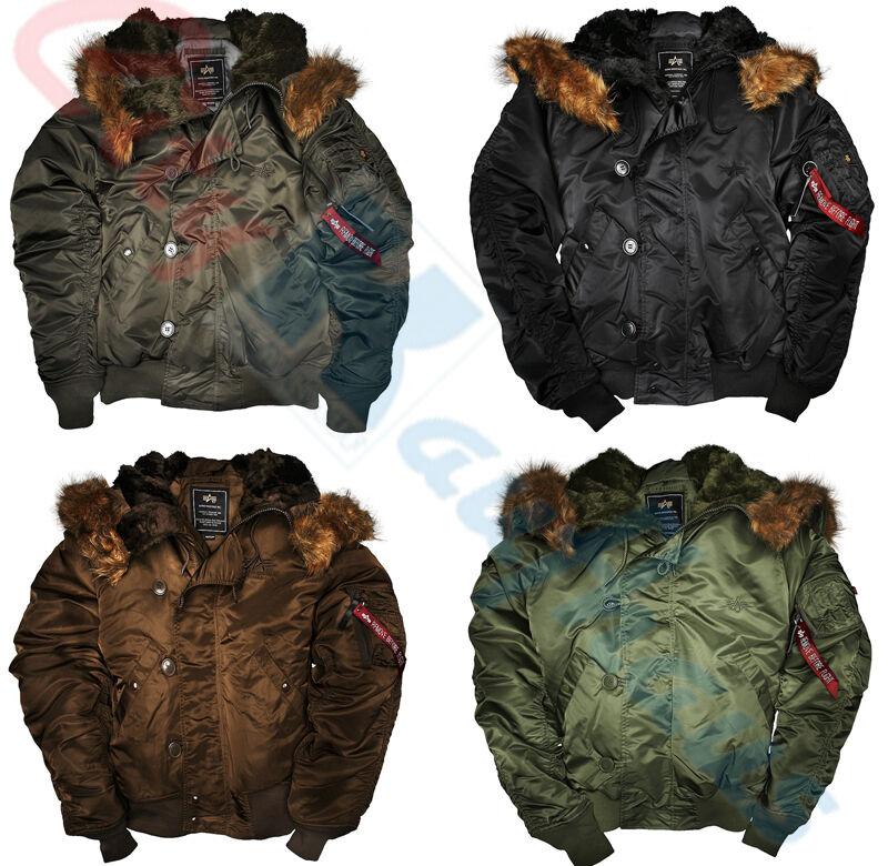 Alpha Industries N2B Parkas Jacke Hood Long 100105 Winterjacke