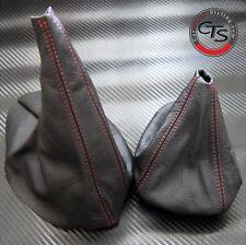 Bmw E46 1998-2005 Serie 3 Rojo Stitch Gear Stick Perilla De Tapa De Freno De Mano Polaina Nuevo