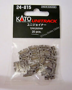 Kato-24815-HO-N-Gauge-Unitrack-UniJoiner-20pcs-New