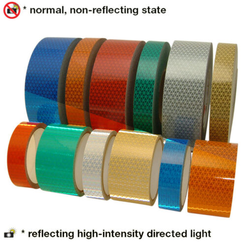 x 30 ft V92-DB-COLORS Microprismatic Conspicuity Tape: 2 in Oralite Reflexite