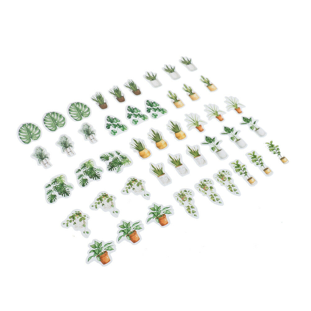 45* green leaves tree life plants DIY Diary Craft Stickers Scrapbooking decoATA