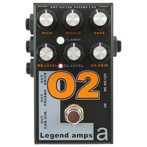 Details about AMT Electronics Legend Amps 2 O2 2-Channel JFET Guitar Preamp  / Distortion Pedal