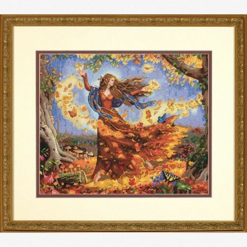 Counted Gold Cross Stitch Kit D70-35262 Dimensions Autumn // Fall Fairy