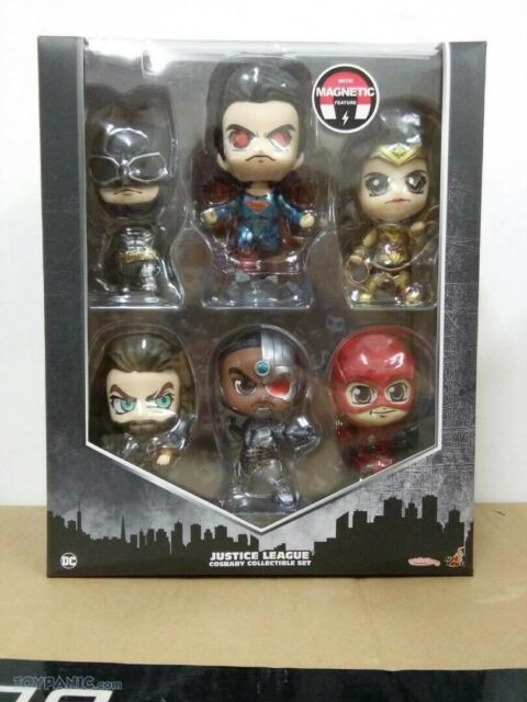Hot Toys Cosbaby COSB397 Collectible Justice League Set New