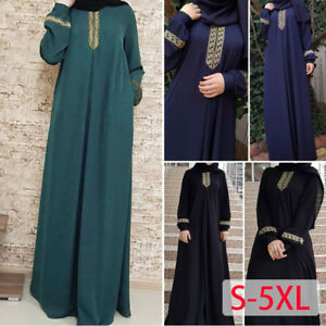 Kaftan-Islamic-Muslim-Women-Dress-Maxi-Arab-Vintage-Cocktail-Jilbab-Abaya-Robe