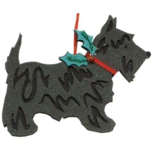 Arbre de Noël décoration 13705 Noir Scottie Dog Gisela Graham 13705