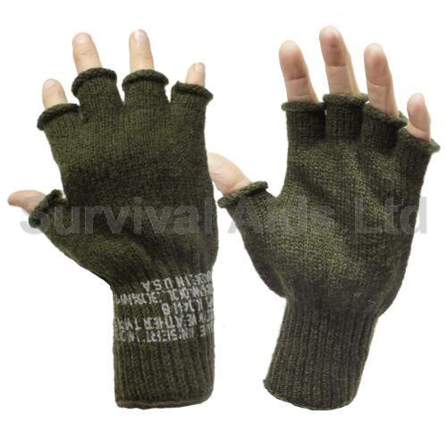Knitted Olive G.I Fingerless Gloves Rothco