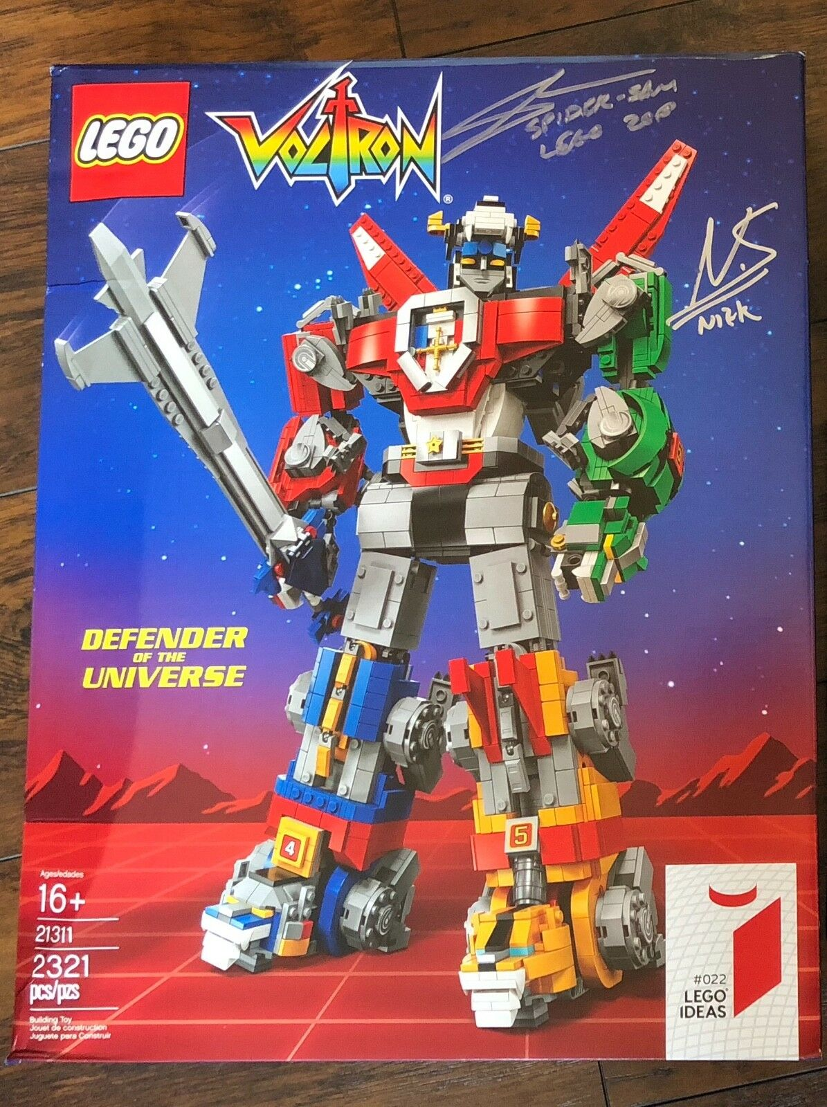Limited   SIGNED exclusive SDCC Comic-Con 2018 Lego ideas Voltron
