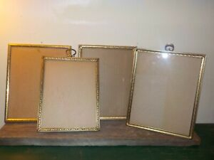 Vintage Antique Metal Gold and Silver Ornate Picture Frames Original 4 in lot