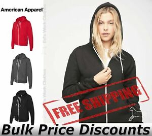 American-Apparel-Flex-Fleece-Unisex-Full-Zip-Hoodie-Blank-F497W-up-to-3XL