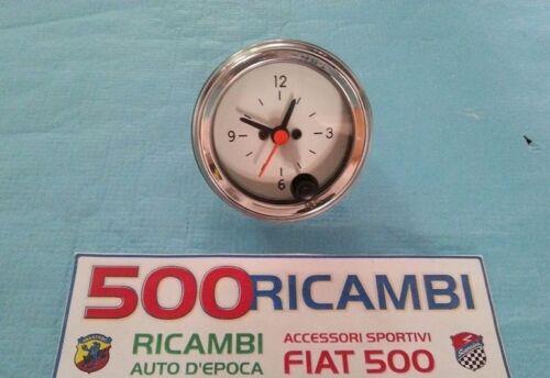 FIAT 500 F//L//R OROLOGIO ANALOGICO CROMATO STRUMENTO DI BORDO CRUSCOTTO DA 52