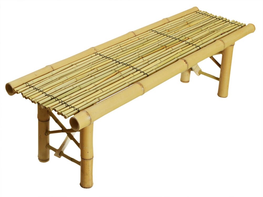 Bamboo Bench Folding Tropical Coffee Table Seat Home Room ...