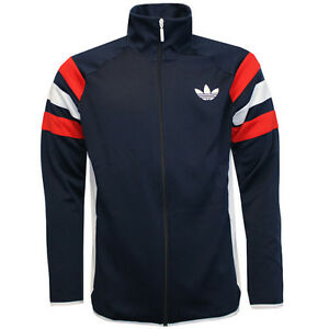 Adidas Originals Trefoil Logo FC Full Zip Mens Navy Track Top Jacket ... f07d86cbd