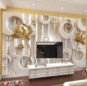 Image Is Loading 3D Wallpaper Bedroom Mural Roll Modern Luxury Embossed