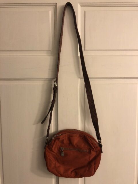 baggallini Luggage Leather Trim Maria Crossbody Bag Amber One Size ... 9b5a8959ef
