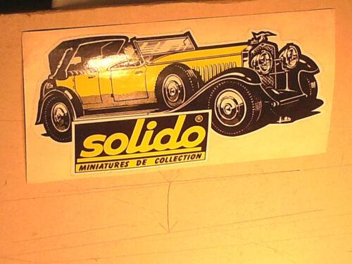 RARE AUTOCOLLANT HISPANO SUIZA CLUB SOLIDO 1985 PAR JEAN BLANCHE