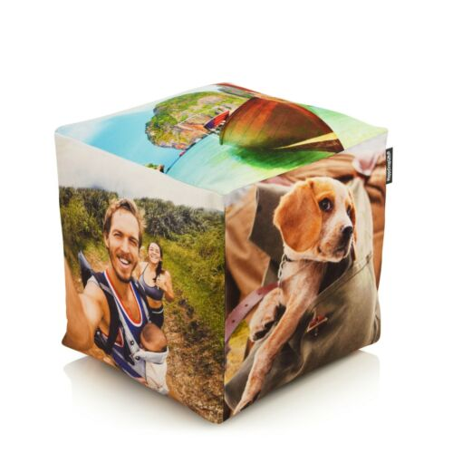 Photo Cube Cushion Personalised Cushion with Your Own Photo Upload
