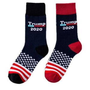 Socks-Trump-National-Flag-of-America-Stars-Striped-Casual-Mens-Womens-BluePJU