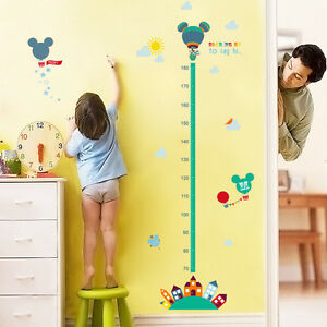 Image Is Loading Mickey Mouse Minnie Height Measurement Chart Kids Wall