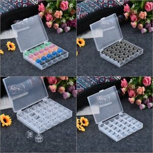 25-Spools-Empty-Bobbins-Case-Organizer-Sewing-Machine-Bobbin-Clear-Box-Storage