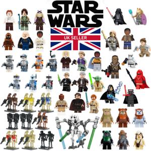 Lego Compatible Star Wars Mini Figures Clones Droids Skywalker Yoda Leia Ewok